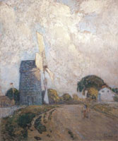 Childe Hassam Windmill at Sundown, East Hampton