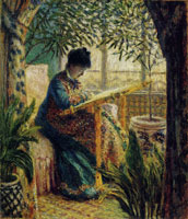 Claude Monet Madame Monet Embroidering