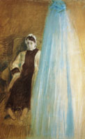 Edgar Degas Madame Ernst May Behind the Cradle