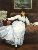 Edouard Manet Repose, Portrait of Berthe Morisot