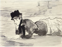 Edouard Manet Woman Lying on the Beach, Annabel Lee