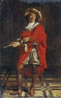 Ernest Meissonier A Cavalier: Time of Louis XIV