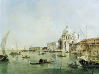Francesco Guardi - Santa Maria della Salute and the Dogana in Venice