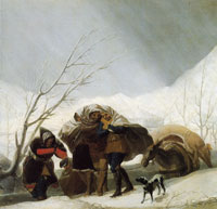 Francisco Goya Sketch for Winter or The Snowstorm