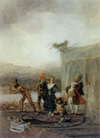 Francisco Goya Alegoria Menandrea or The Strolling Players