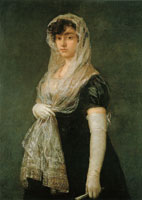 Francisco Goya Young Lady Wearing a Mantilla and Basquina