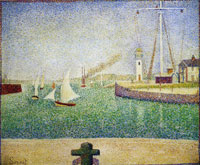 Georges Seurat Entrance to the Port of Honfleur