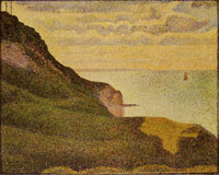 Georges Seurat Seascape at Port-en-Bessin, Normandy