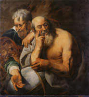 Jacob Jordaens Democritus and Heraclitus