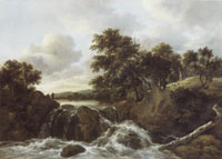 Jacob van Ruisdael Landscape with waterfall