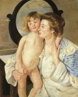 Mary Cassatt Mother and Child or The Oval Mirror