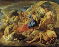 Nicolas Poussin Helios and Phaeton with Saturnus