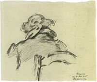 Paul Cézanne Camille Pissarro, seen from behind