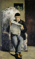 Paul Cézanne The artist's father reading