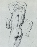 Paul Cézanne Male nude, back view