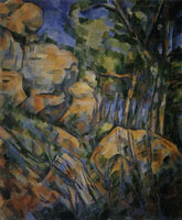 Paul Cézanne Rocks near the grottoes above the Château Noir