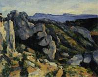 Paul Cézanne Rocks at L'Estaque