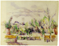 Paul Cézanne The garden terrace at the Lauves Studio