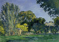 Paul Cézanne Trees at the Jas de Bouffan