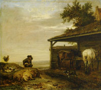 Paulus Potter Peasant with Manure