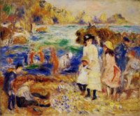 Pierre-August Renoir Beach Scene, Guernsey