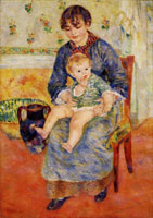 Pierre-August Renoir Mother and Child