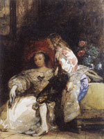 Richard Parkes Bonington Lady and Cavalier