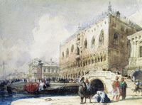 Richard Parkes Bonington Venice: the Doge's Palace from the Ponte della Paglia