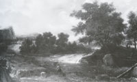 Roelant Roghman Landscape with Anglers and a Waterfall