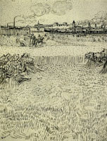 Vincent van Gogh Arles: View from the Wheat Fields