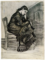 Vincent van Gogh Bent Figure of a Woman