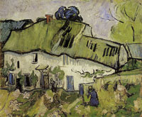 Vincent van Gogh Farmhouse with Two Figures