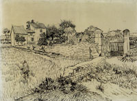 Vincent van Gogh A Farmhouse in Provence