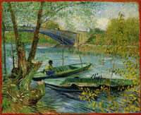 Vincent van Gogh Fishing in Spring, the Pont de Clichy
