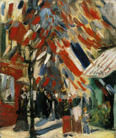 Vincent van Gogh The Fourteenth of July Celebration in Paris