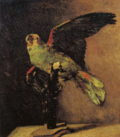 Vincent van Gogh Stuffed green parrot