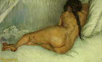 Vincent van Gogh Nude woman reclining, seen from the back