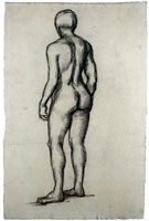 Vincent van Gogh Nude Young Man, Standing, Seen from the Back
