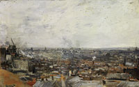 Vincent van Gogh View of Paris from Montmartre
