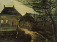 Vincent van Gogh The Parsonage at Nuenen at Dusk, Seen from the Back