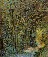 Vincent van Gogh A path in the woods