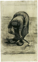 Vincent van Gogh Peasant woman lifting potatoes