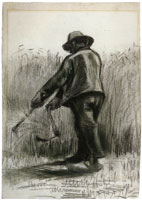 Vincent van Gogh Peasant with Sickle, Seen from the Back