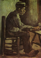 Vincent van Gogh Peasant, sitting at a table