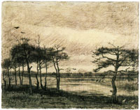 Vincent van Gogh Pine Trees in the Fen