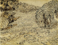 Vincent van Gogh A Corner of a Garden in the Place Lamartine