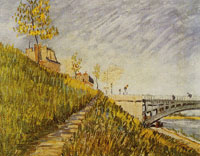 Vincent van Gogh Bank of the Seine with the Pont de Clichy