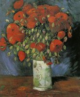 Vincent van Gogh Vase with poppies