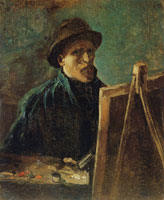 Vincent van Gogh Self-Portrait with Dark Felt Hat at the Easel