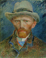 Vincent van Gogh Self portrait with grey felt hat
